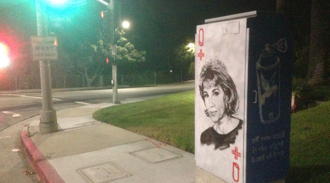 Joan Rivers Street Art in L.A.