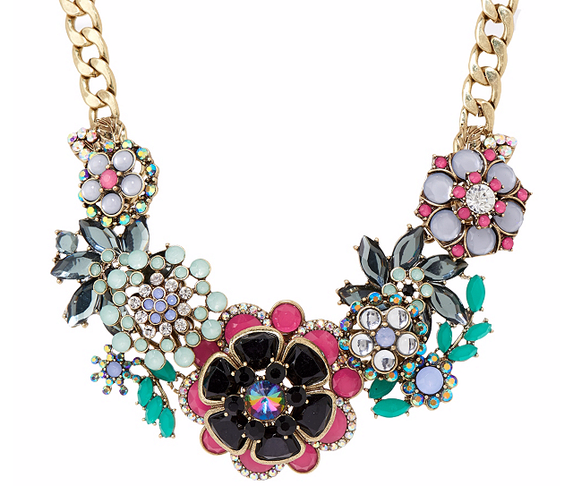 "Jeweled Bouquet 18"" Statement Necklace"