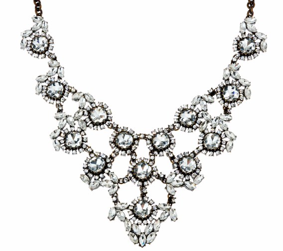 Crystal Elegance Statement Necklace