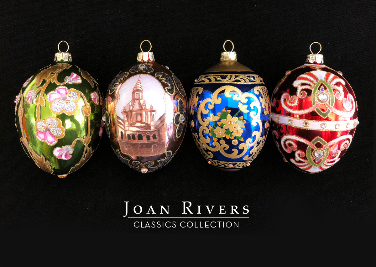 2018 Set of 4 Russian Inspired Egg Ornaments