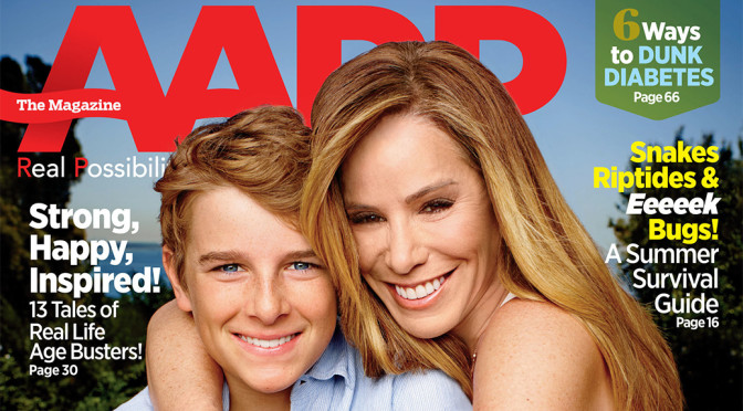 Melissa and Cooper on the Cover of AARP Magazine